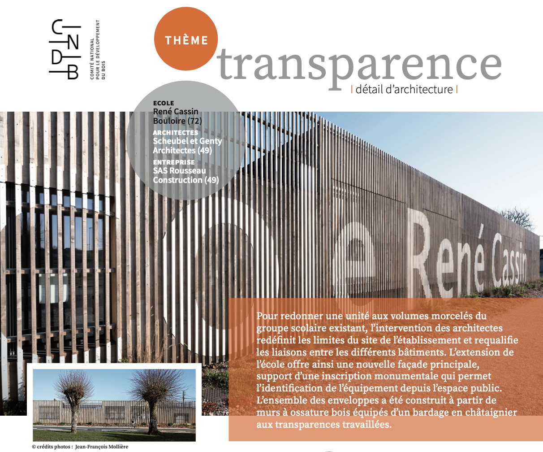détail d'architecture cndb transparence construction bois