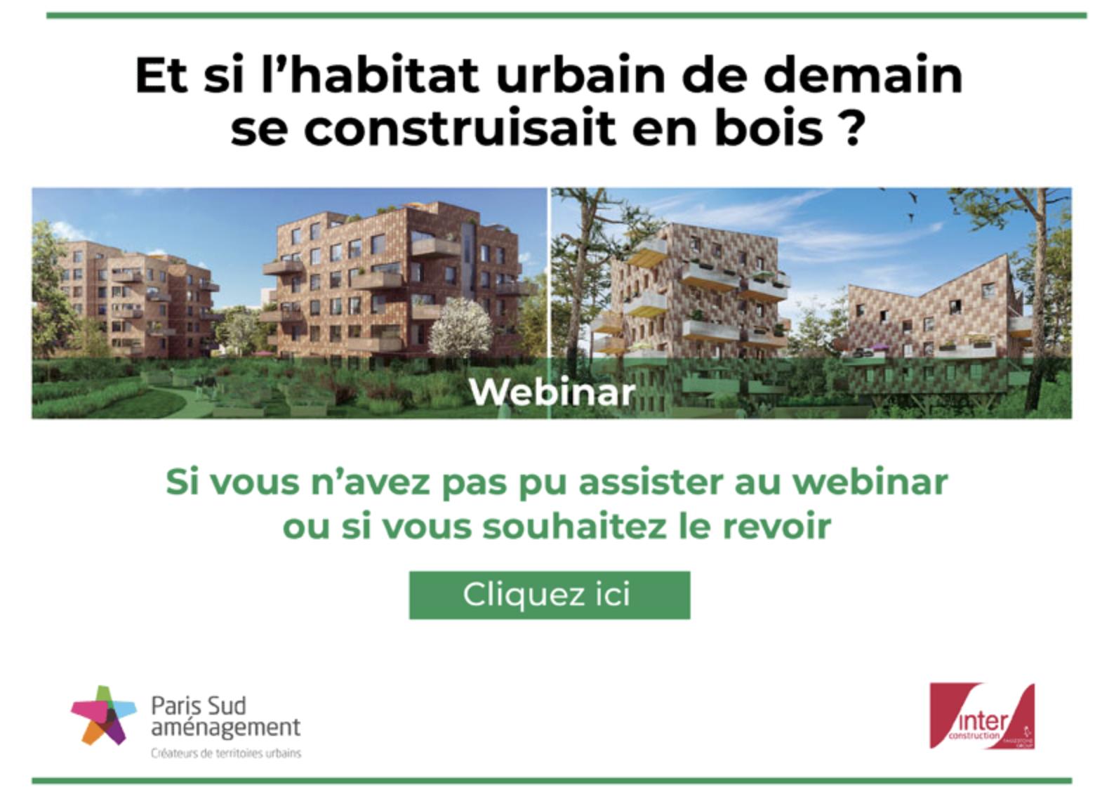 webinar « Et si l'habitat urbain de demain se construisait en bois ? »